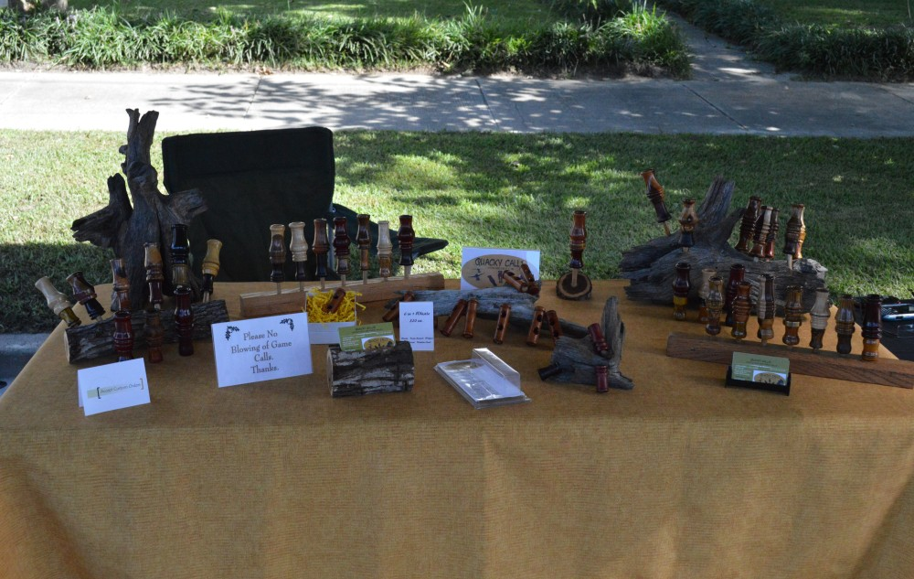 Festival display table -duck, turkey calls