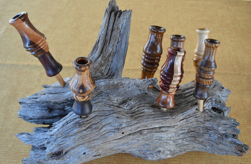 quackycalls, styles of duck calls crafted here