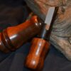 Single reed Cherry striped walnut duck call