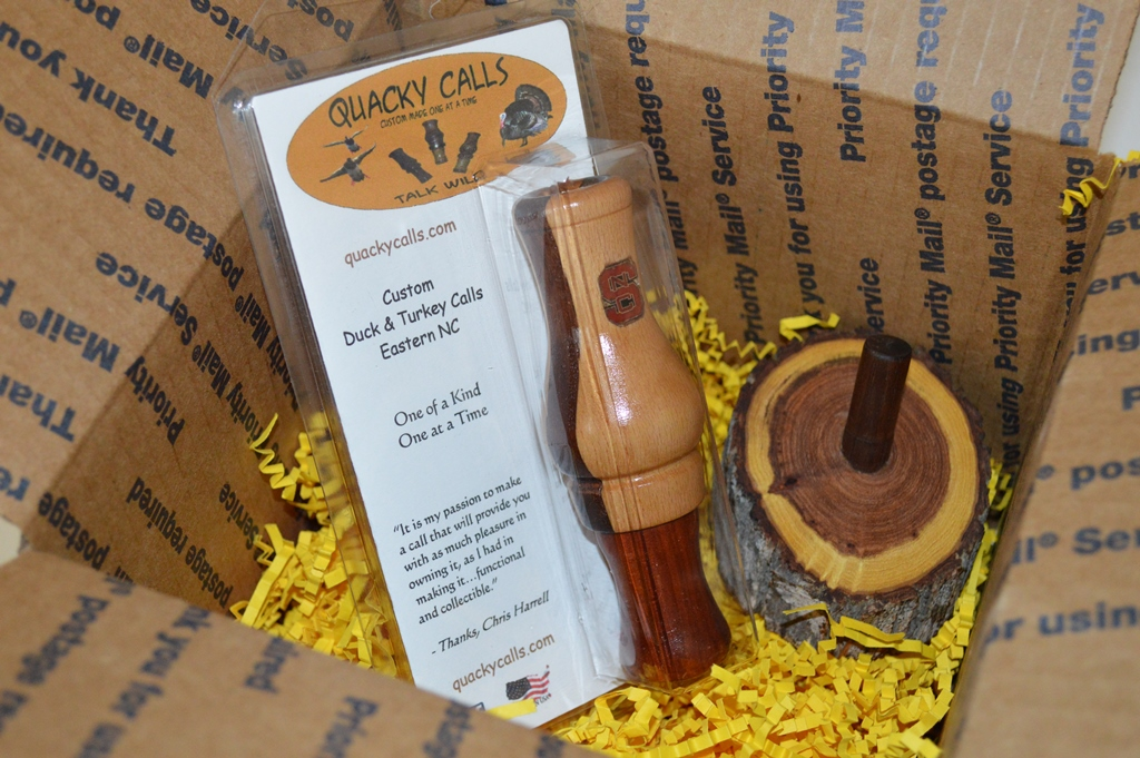 Walnut striped Beech duck call- personalized. NC