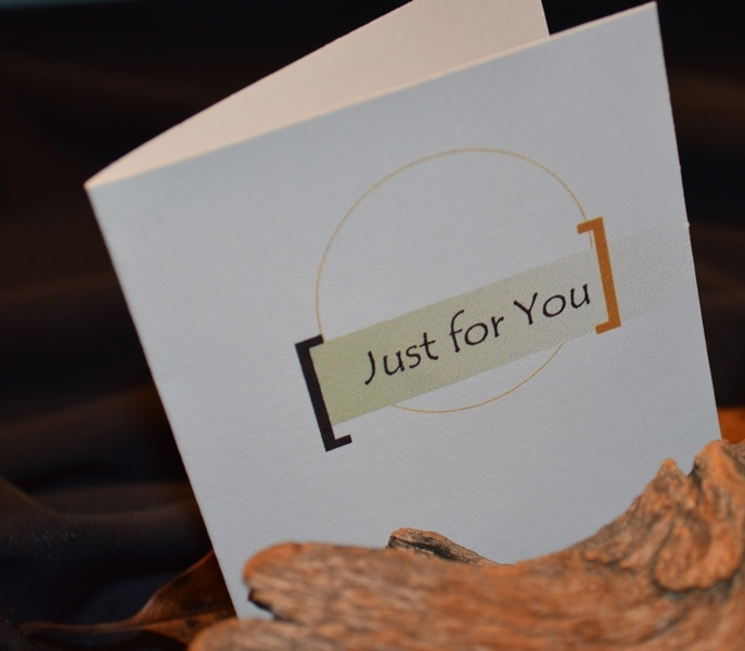All creations come with a 'Just for You' gift card