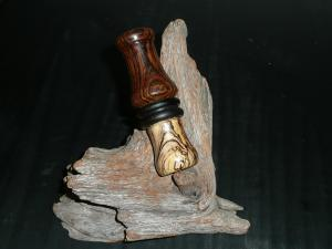 Bocote with black ebony band and spalted beech insert
